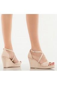Sandale cu paltforma dama Iman bej
