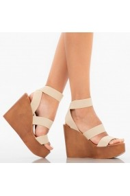 Sandale cu platforma dama Catris bej