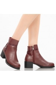Botine dama Antiope bordo