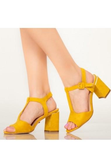 Sandale dama Dalu galbene