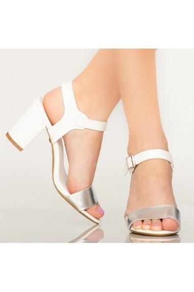 Sandale dama Ston albe