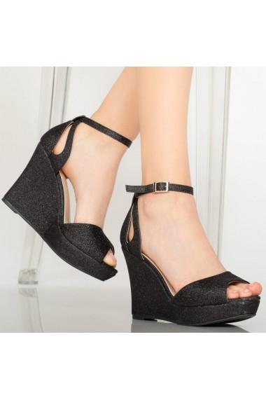 Sandale cu platforma dama Idal negre