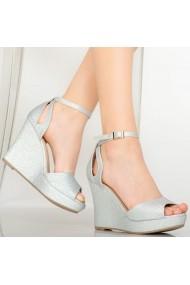 Sandale cu paltforma dama Idal argintii