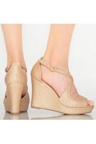 Sandale cu platforma dama Kace roze