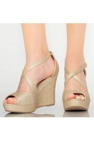 Sandale cu paltforma dama Kace aurii