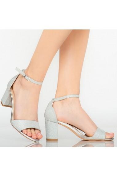 Sandale dama Temple argintii