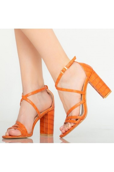 Sandale dama Silas portocalii