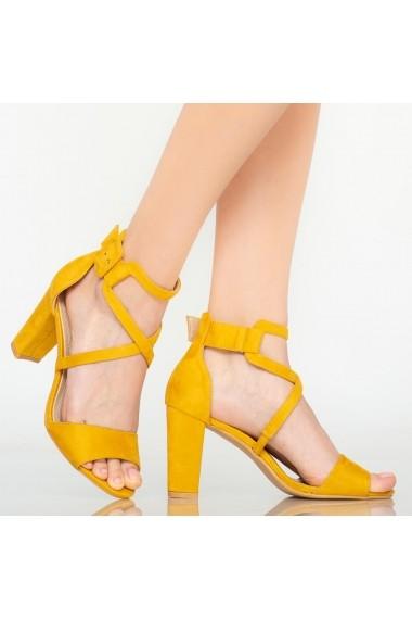 Sandale dama Chara galbene
