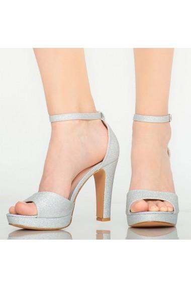 Sandale dama Hoku argintii