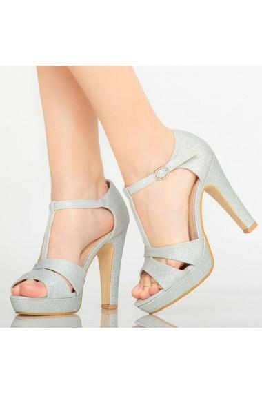 Sandale dama Mars argintii