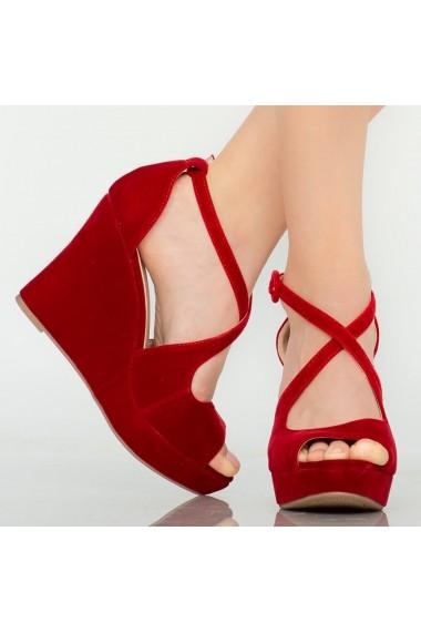 Platforme dama Mane rosii