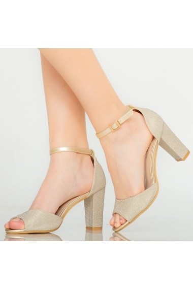 Sandale dama Foxi aurii