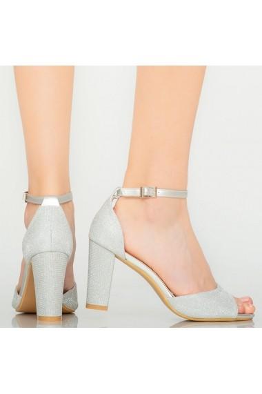 Sandale dama Foxi argintii