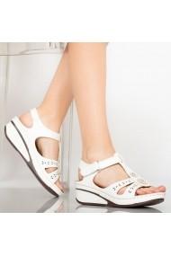 Sandale dama Beba albe