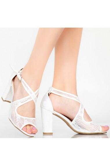 Sandale dama Aso albe