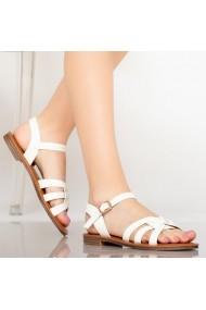 Sandale dama Mati albe