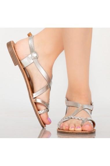 Sandale dama Lex argintii