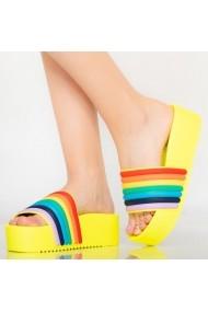 Papuci dama Elci galbeni