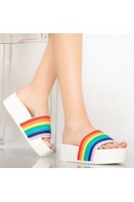 Papuci dama Elci albi