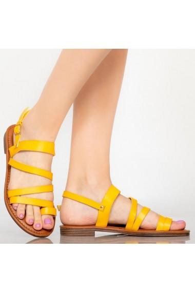 Sandale dama Tily galbene