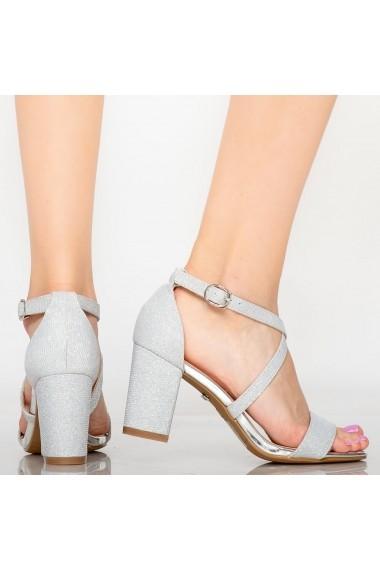 Sandale dama Vave argintii