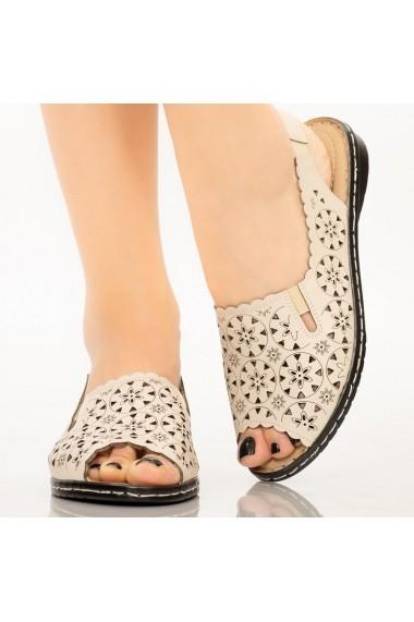 Sandale dama Mife bej
