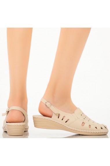 Sandale dama Supy bej