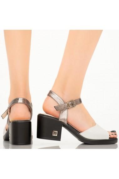 Sandale dama Ales albe