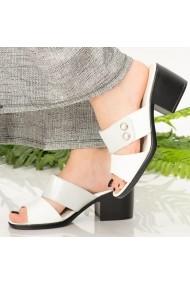 Papuci dama Gabe albe