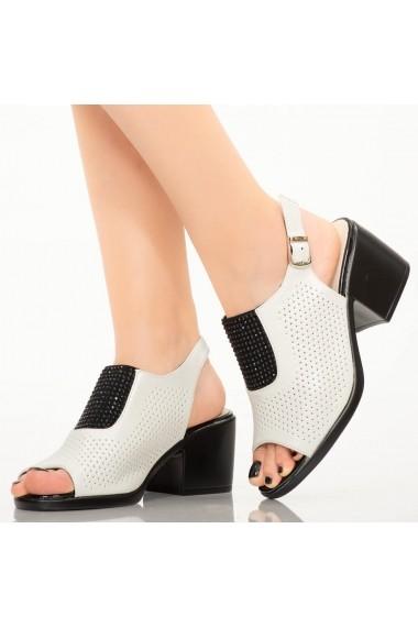 Sandale dama Sido albe