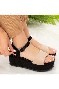 Sandale cu platforma Ropi bej
