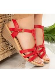 Sandale dama Rem rosii