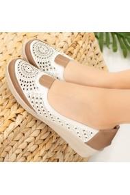 Pantofi dama Tuda albi