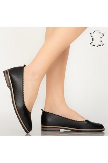 Pantofi piele naturala Brendy negri