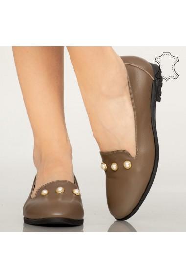 Pantofi piele naturala Vadu bej