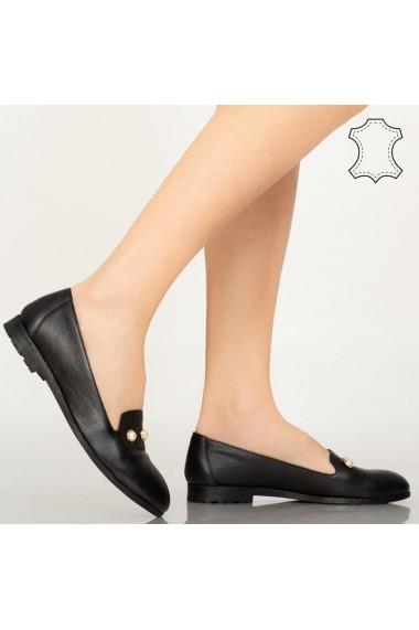 Pantofi piele naturala Vadu negri