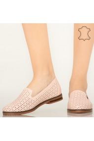Pantofi piele naturala Maua roz