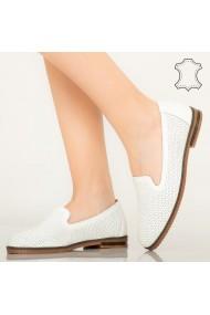 Pantofi piele naturala Velha albi