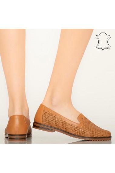 Pantofi piele naturala Velha maro