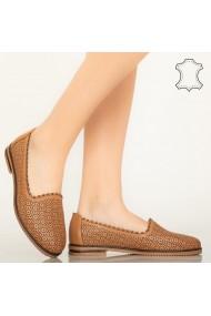 Pantofi piele naturala Timon maro
