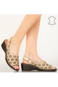 Pantofi piele naturala Zarea bej