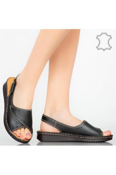 Sandale piele naturala Algo negre