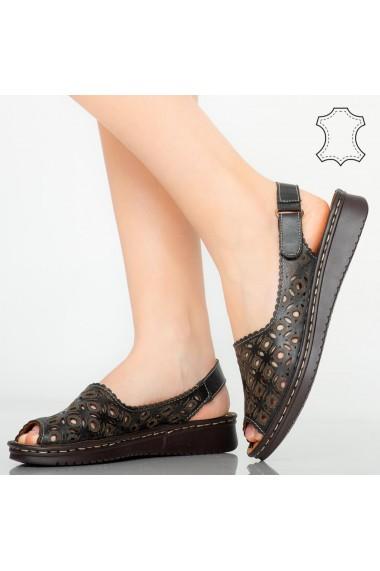 Sandale piele naturala Doga negre