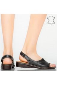 Sandale piele naturala Bedy negre