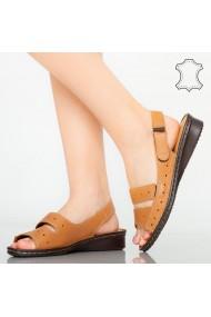 Sandale piele naturala Rima maro