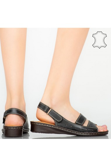 Sandale piele naturala Rima negre