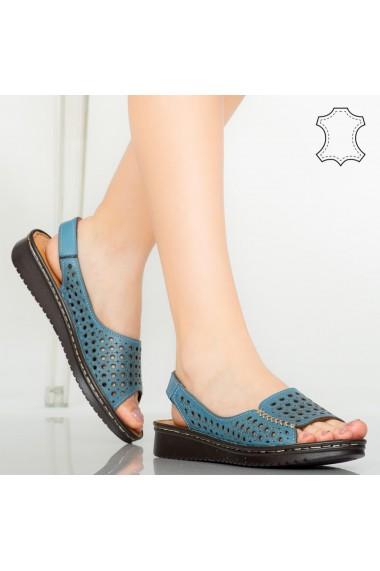 Sandale piele naturala Baly albastre