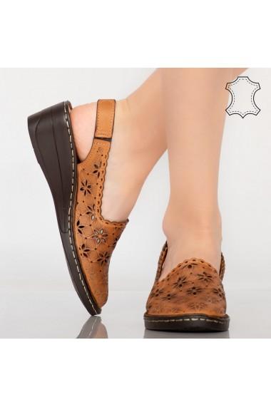 Sandale piele naturala Dele camel