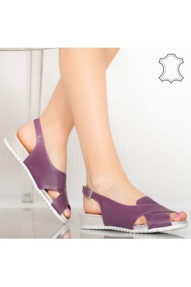 Sandale piele naturala Sion mov