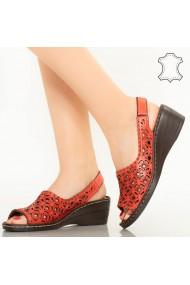 Sandale piele naturala Range rosii